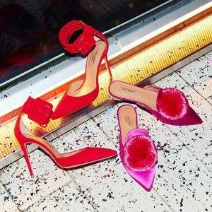 低至4折 $200起 小码有货Aquazzura 梅根王妃专宠美鞋特卖
