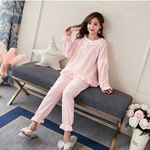 XLCrescentt 粉色睡衣套装