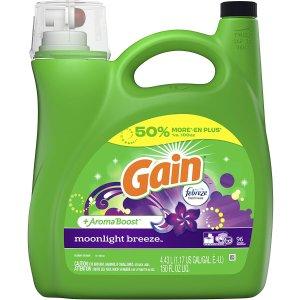$9.97(原价$12.99)Gain 超浓缩洗衣液 4.43L 超强去污力 持久留香 居家必囤