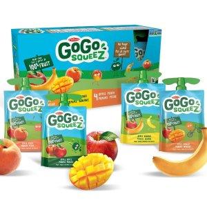 $8.69 (原价$10.99) 90gX16包史低价:GoGo Squeez 宝宝果泥 混合口味装 辅食必备代餐首选