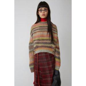 彩色条纹毛衣