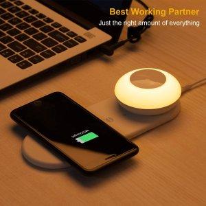 折后€12.74 原价€201byone 多功能床头夜灯 手机充满自动断电 触摸控制光照强度