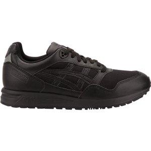 Asics纯黑色运动鞋