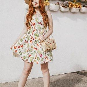 满额7.5折 折扣区也参加折扣升级:ModCloth 全场美衣上新促销 收复古小仙裙