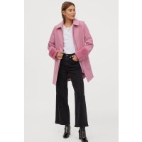 H&M 桃粉色毛毛袖口外套