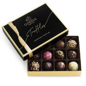 GodivaSignature Chocolate Truffles Gift Box, 12pc