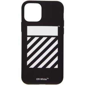 Off-White黑白斑马纹Iphone 11 Pro 手机壳