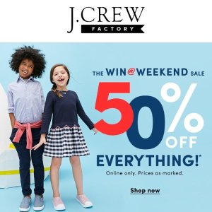 Extra 50% OffJ.Crew Factory Sitewide Sale