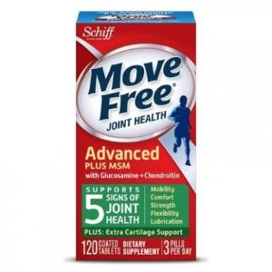 SchiffMove Free Joint Health Advanced Plus MSM with Glucosamine + Chondroitin, 120 Coated Tablets