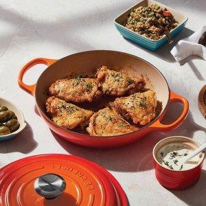 低至7折Le Creuset 精选高颜值珐琅铸铁锅及厨房用品买多省多