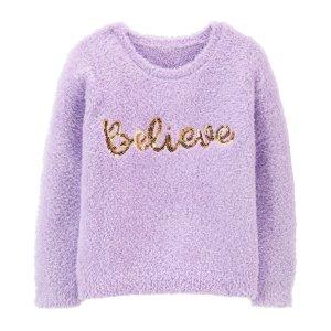 OshkoshFuzzy Believe Sweater
