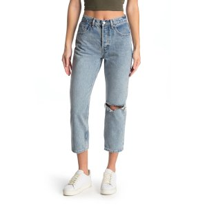 Topshop直筒牛仔裤