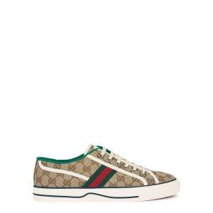 GucciTennis 1977 老花帆布鞋