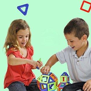 $14.99(原价$36.67)Magmagic 儿童彩色磁性建筑玩具38片 早教玩具