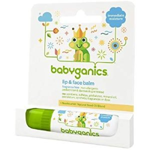 Amazon.com : Babyganics Lip & Face Balm Fragrance Free- .25 oz : Beauty