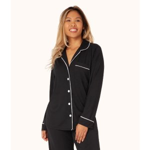 2 lounge tops and/or bottoms for $68The All-Day Lounge Shirt: Jet Black