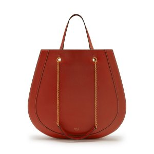 The Roundabout Tote | Red Ochre Silky Calf | Women | Mulberry