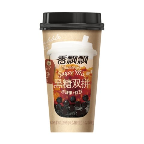 XIANGPIAOPIAO Brown Sugar Milk Tea with Boba and Red Bean 90g