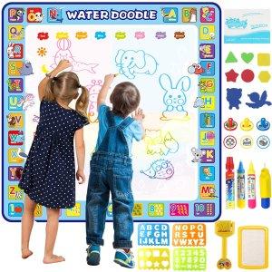$27.99(原价$39.99)Tobeape 儿童魔术涂鸦垫 100x100cm 超多额外配件乐趣多