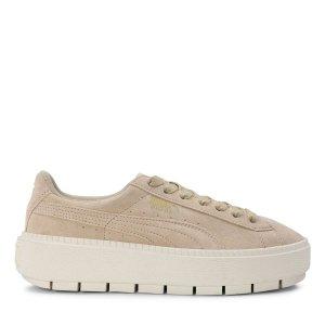 Puma麂皮厚底鞋