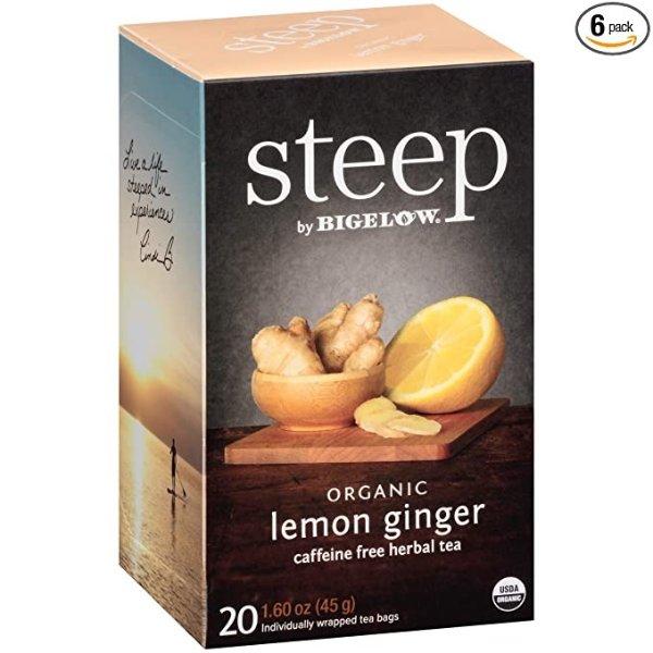 steep by Bigelow 有机柠檬姜茶 120包