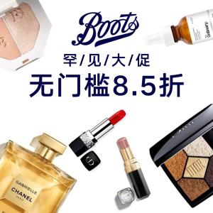 8.5折,it cosmetics CC霜仅£26Boots 美妆罕见大促,收Fenty Beauty 香奈儿 Dior Clarins