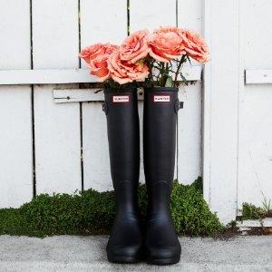 精选7折+免邮 $44起折扣升级:Hunter 初春热卖 雨靴也能穿出时髦感 收显瘦新款