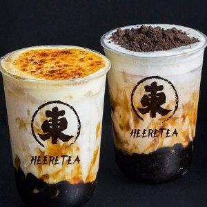 $4.3(原价$6.5)墨尔本Heeretea Melbourne 奶茶/冰茶/特调饮品团购