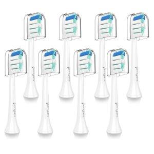 Sonifresh 替换牙刷头 适用于飞利浦电动牙刷 8支