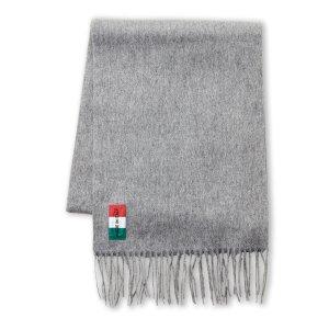 Grey Solid Wool Scarf