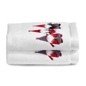 Distinctly Home  Fingertip 刺绣毛巾2件装