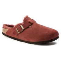 Birkenstock 毛毛麂皮拖鞋