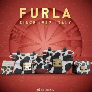 €325收戚薇同款奶牛方包FURLA 2021新年胶囊系列来袭 萌趣可爱的Super牛 陪你过年