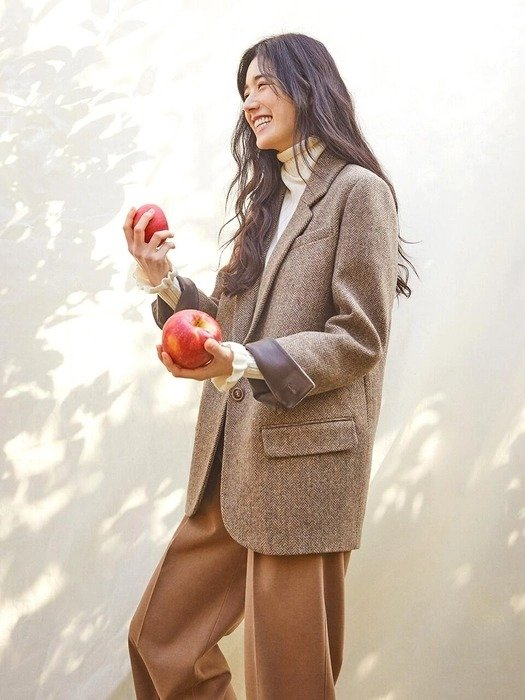棕色羊毛西装外套