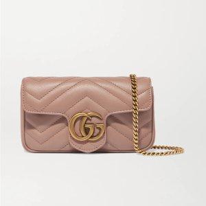 Gucci相当于美金$812GG Marmont super mini 脏粉链条包