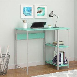 Mainstays 基础金属框架办公桌,薄荷绿色