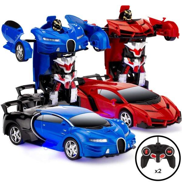 遥控变形汽车玩具2件套