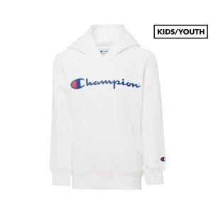 Champion(冠军)Kids'/Youth Logo白色卫衣