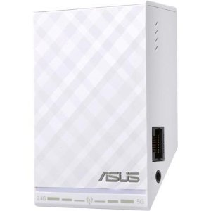$4.99ASUS RP-N54 Dual-Band (2.4 GHz, 5 GHz) Wireless N600 Repeater / Access Point / Media Bridge with RJ45 10/100 Ethernet and Audio Ports