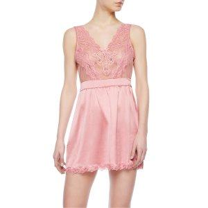 LA PERLA 粉色蕾丝睡衣裙