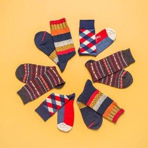 正价产品7折+免邮Happy Socks 全场萌袜热卖