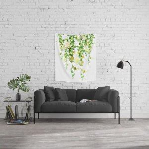 Society6Watercolor Ivy Wall Tapestry by nadja1