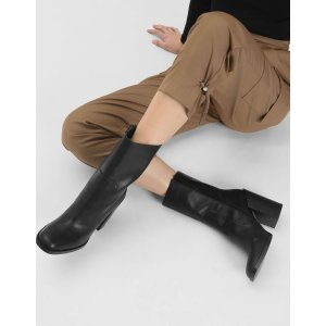 Charles & KeithBlack Classic Calf Boots 短靴 | CHARLES & KEITH