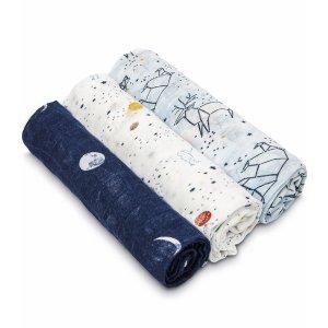 ADEN + ANAISWhite Label Silky Soft Swaddles - 3-Pack - Stargaze