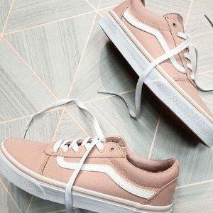 第二件5折Vans ward系列潮鞋折上折热卖 小码妹纸收大童格子款