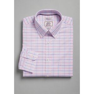 Jos A Bank3for$691905 Collection Tailored Fit Button-Down Collar Grid Dress Shirt - 1905 Dress Shirts | Jos A Bank