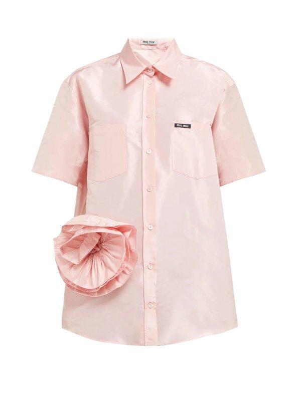 粉色花朵衬衫