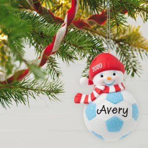Soccer Snowman 2020 Personalized Ornament