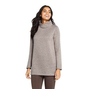 Lands' EndWomen's Sweater Fleece Tunic Pullover Top
