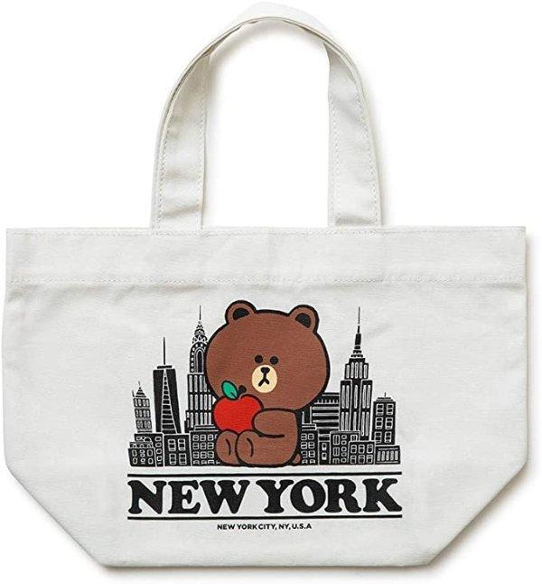 布朗熊 纽约tote包